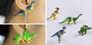 Dinosaurie náušnice pre každého moderného pračloveka! | OOO