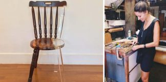 Opravuje poškodený drevený nábytok úžasným spôsobom | Tatiane Freitas
