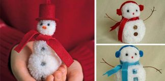 Snehuliak z brmbolcov | DIY nápad a návod na brmbolcových snehuliakov
