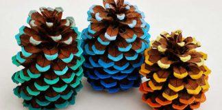 Ombré šišky | DIY nápad a návod ako vytvoriť šišky v štýle ombré