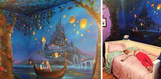 Maľba z rozprávky Na vlásku v detskej izbe dcérky Jennifer Treece