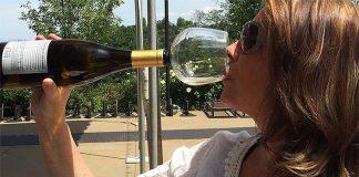 Nástavec na víno zmení fľašu vína na pohár vína   Guzzle Buddy