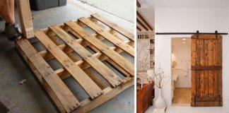 Posuvné dvere z paliet vo vidieckom štýle | Upcyklácia drevených paliet