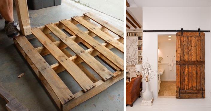 244d1bb86 Posuvné dvere z paliet vo vidieckom štýle | Upcyklácia drevených paliet
