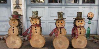 Snehuliaci z drevených polien, ktorí sa nikdy neroztopia | Inšpirujte sa!