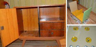 Kuchynka na hranie pre deti vyrobená zo starej komody | DIY nápad