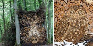 Títo ľudia povýšili ukladanie palivového dreva na umelecké diela #2