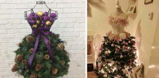 Netradičné vianočné stromčeky z figuríny | 20 inšpirácií a návod