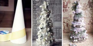 Dekoračný handmade stromček v štýle vintage | Vianočné dekorácie