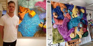 Maľby plyšových hračiek vás vrátia späť do detstva   Brent Estabrook