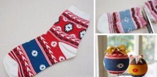 Ponožkové ozdoby na Vianoce | Návod na ozdoby oblečené do ponožiek