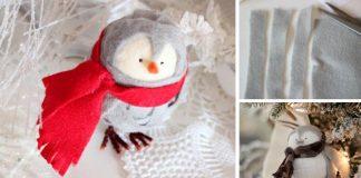 Tučniak z filcu ako roztomilá vianočná ozdoba | DIY nápad a návod