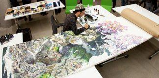 Managu Ikeda zobrazil na plátne ničivú silu zemetrasenia a tsunami