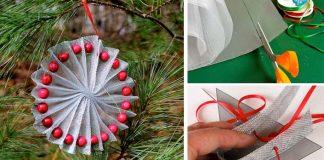 Vianočné ozdoby z hliníkovej sieťky | 4 nápady s detailnými návodmi