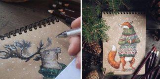 Okúzľujúce kresby inšpirované prírodou | Lia Selina