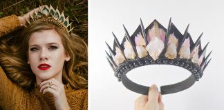 Handmade koruny s kryštálmi | Vlasové šperky od Melissa Loschy