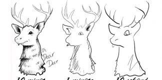 Výzva v rýchlokresbe žiada umelcov kresliť za 10 minút, 1 min a 10 sekúnd