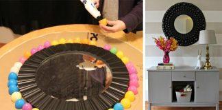 Bublinkový rám zrkadla z plastových vajíčok | Originálny DIY nápad s návodom