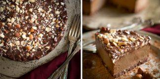 Mrazená čokoládovo-oriešková espresso raw torta | Recept