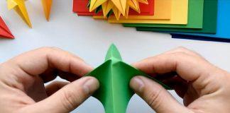Origami vence z papiera | 22 krásnych nápadov, ako premeniť papier na veniec