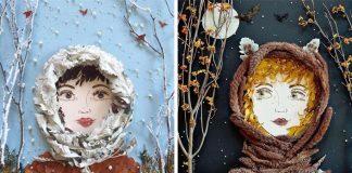 Portréty žien z kvetín a listov | Kvetinové umenie spod rúk Vicki Rawlins