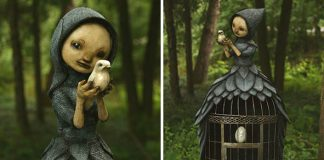 Sochy fantazijných stvorení, lesných víl či čarodejníc | Scott Radke