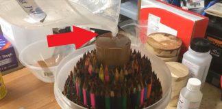 Váza z farbičiek | DIY nápad a detailný návod ako postupovať