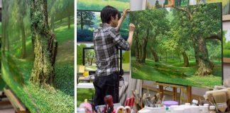 Maľby stromov   Realistické obrazy prírody od umelca An Jung-Hwan