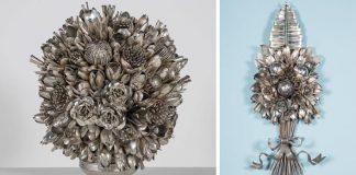 Kytice z príborov a kuchynských pomôcok | Bouquets and Butterflies od Ann Carrington