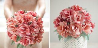 Svadobná papierová kytica ruží | DIY nápad a návod ako postupovať