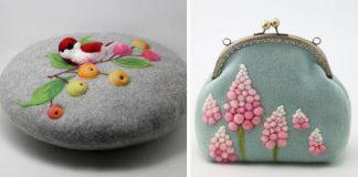 Plstené kabelky a baretky vyrobené s láskou a precíznosťou | He Jiabei
