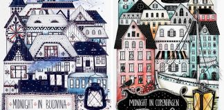 Ilustrácie navštívených miest, ktoré navštívila | Madalina Tantareanu