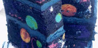 Vesmírna narodeninová torta pre malého milovníka vesmíru a galaxií