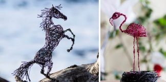 Drôtené sochy zvierat vyjadrujú ich silu a zároveň krehkosť | Nevena Atanasova