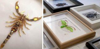 Korálkové výšivky hmyzu | Handmade tvorba Noboru Hoareau