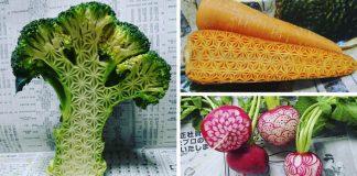 Vyrezávanie zeleniny a ovocia posunul na ďalšiu úroveň | Mukimono umenie od Gaku