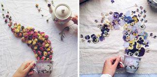 V hlavnej úlohe kvetiny, čajníky a šálky | Floral Tea Story od Marina Malinovaya