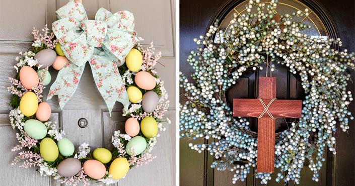 1f1ddc5e8a Veľkonočné vence na dvere
