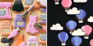 Farebné koláčiky zdobené ilustráciami z polevy | Holly Fox