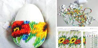 Veľkonočné vajíčka zdobené korálkami | Korálkovanie kraslíc