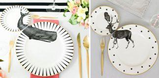 Ručne maľované taniere s motívom zvierat dávajú zmysel, len keď sú v páre | Yvonne Ellen