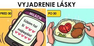 13 komixov trefne a vtipne ukazuje, ako vyzerá láska pred a po 30-tke