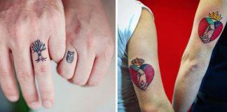 Tetovania pre páry | 20 kreatívnych tetovaní, ktoré budete chcieť aj Vy! #1