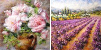 Marina Akserova vymenila štetce za plstiacu ihlu a akvarelové farby za plsť