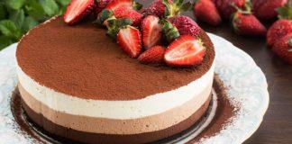 Nepečená torta s tromi druhmi čokoládovej peny | Recept na úžasný dezert
