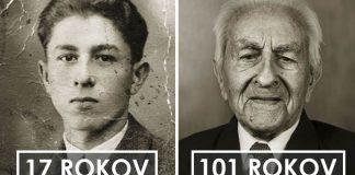Kedysi a dnes: Dvojportréty Čechov v mladosti a po dosiahnutí 100 rokov!