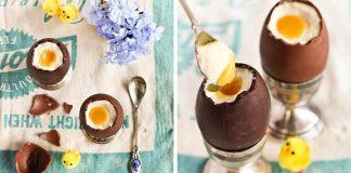 Čokoládové vajíčka plnené vanilkovým krémom nie len na Veľkú Noc
