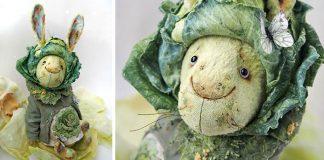 Šité veľkonočné zajace vyzerajú akoby boli vyrobené zo zeleniny