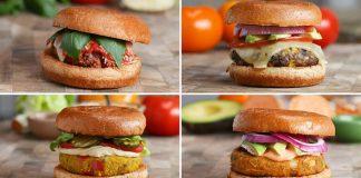 Vegetariánske burgre bez mäsa | 4 recepty na bezmäsité domáce burgre