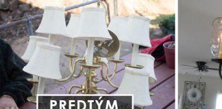 DIY luster zo zaváraninových pohárov v štýle shabby chic | Nápad a návod